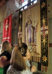 Admiring the Santa Ecclesia Banner