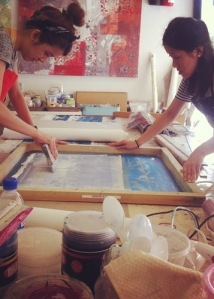 Talking textiles screen printing